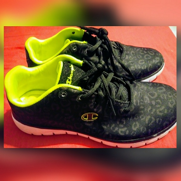 Champion Shoes | Lime Green And Black